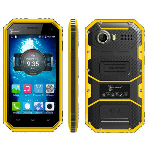 KENXINDA Proofings W6 – 4.5 Zoll LTE qHD Outdoor Smartphone mit Android 5.1, MTK6735 Quad Core 1.3GHz, 1GB RAM, 8GB Speicher, 5MP & 2MP Kameras, 2.600mAh Akku