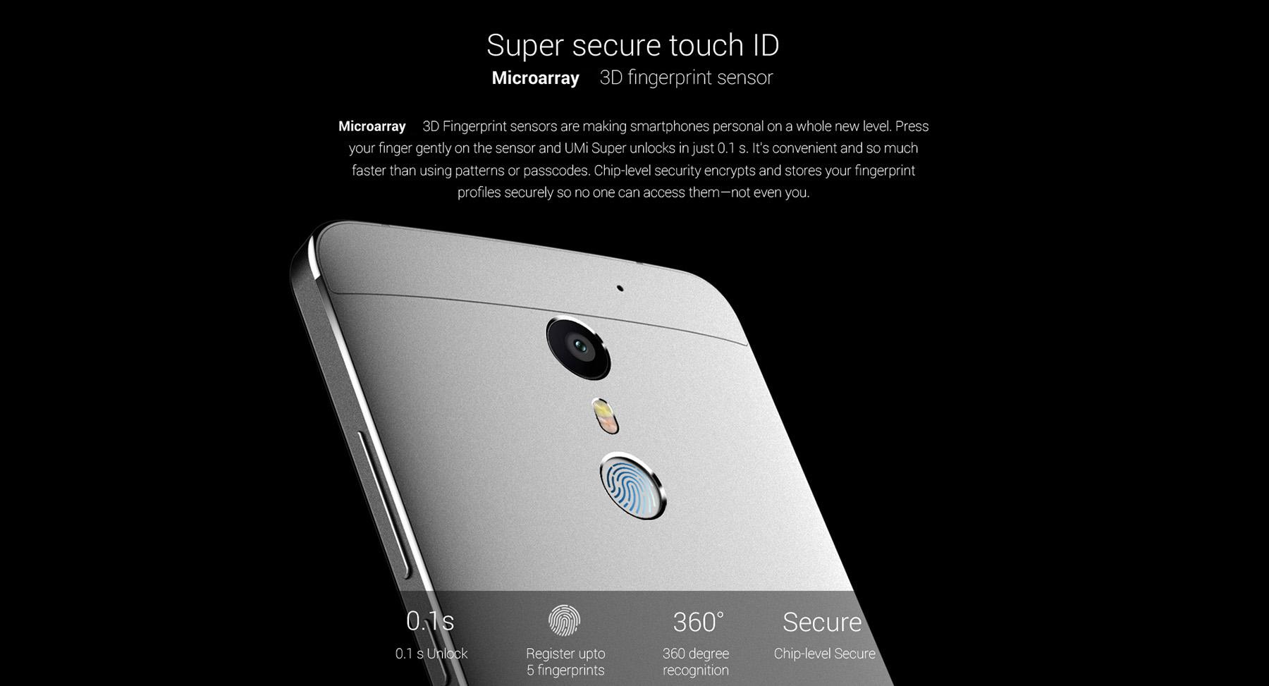 UMI Super , Touch ID, schnelle Erkennung Fingerabdruck, bester Preis UMI Super , Angebot, Aktionspreis, China Smartphones Test, Handy China