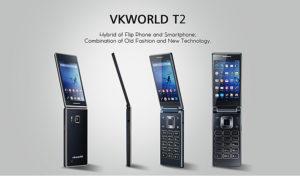 VKWORLD T2 – 4.02 Zoll Klapphandy mit Android 5.1, MTK6580 Quad Core 1.3GHz und 8MP Kamera