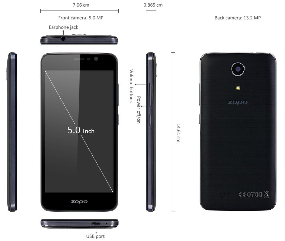 ZOPO Hero 1, Daten, LTE 800, 142 Gramm, leichtes Smartphone