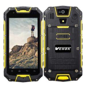 VCHOK M8 – 4.5 Zoll LTE qHD Outdoor Smartphone mit Android 5.1, MTK6735 Quad Core 1.3GHz, 2GB RAM, 16GB Speicher, 13MP & 2MB Kameras, 3.000mAh Akku