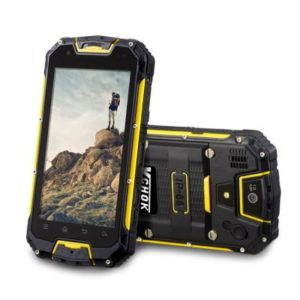 VCHOK M9 – 4.5 Zoll LTE qHD Outdoor Smartphone mit Android 5.1, MTK6735 Quad Core 1.3GHz, 2GB RAM, 16GB Speicher, 13MP & 2MP Kameras, 4.700mAh Akku