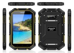 VKWORLD V6 7.0 Zoll LTE HD Outdoor Phablet mit Android 4.4, MTK8732VC Quad Core 1.3GHz, 2GB RAM, 16GB Speicher, 13MP+5MP Kameras, 10.000mAh Akku