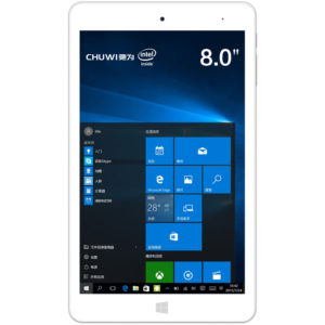 Chuwi Hi8 Pro – 8 Zoll FullHD Tablet PC mit Windows 10 + Android 5.1 (Dual Boot), Intel Cherry Trail Z8300 64bit Quad Core Prozessor und 2GB RAM + 32GB ROM
