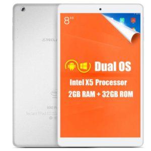 Teclast X80 Power 8.0 Zoll WUXGA Tablet PC mit Android 5.1, Intel Cherry Trail Z8300 64bit Quad Core 1.44GHz, 2GB RAM, 32GB Speicher, 2MP+2MP Kameras, 3.800mAh Akku