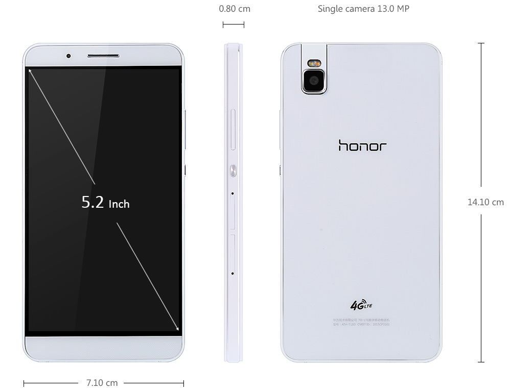 HUAWEI Honor 7i , Antutu, Snapdragon 616 Octa Core, Chinahandy, Handy Smartphone China Test
