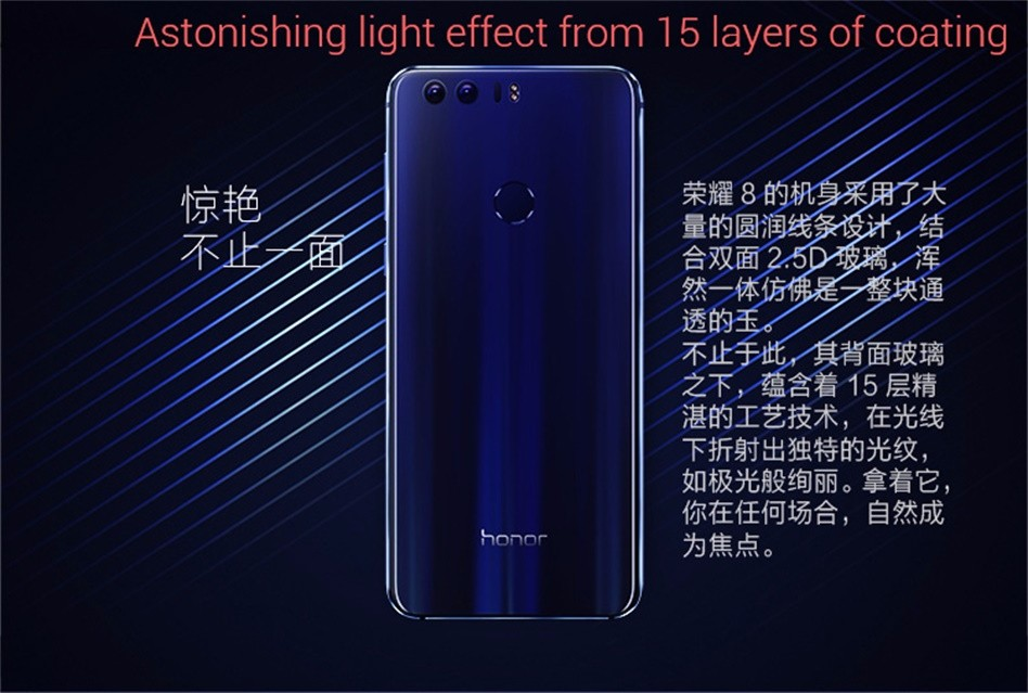 Huawei Honor 8, Kirin 950, Antutu, Benchmarks, Glas beide Seiten
