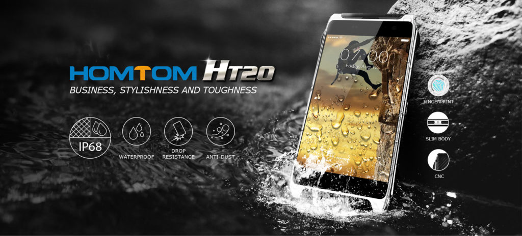 Homtom HT20 4.7 Zoll, Outdoor Smartphone, IP68 wasserdicht, 2GB RAM 16GB ROM MT6737
