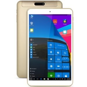 ONDA V80 Plus – 8.0 Zoll WUXGA Dual Boot Tablet PC mit Android 5.1 & Windows 10, Intel Atom Z8300/X5-Z8350 Quad Core 1.44GHz, 2GB RAM, 32GB Speicher, 2MP & 2MP Kameras, 4.200mAh Akku