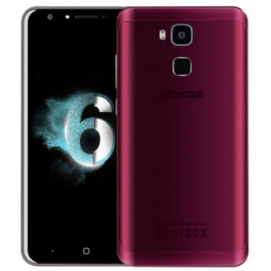 Doogee Y6 Agate Red 5.5 Zoll LTE HD Phablet mit Android 6.0, MTK6750 Octa Core 1.5GHz, 2GB RAM, 16GB Speicher, 13MP+8MP Kameras, 3.200mAh Akku