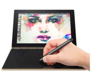 Lenovo Yoga Book 10.1 Zoll WUXGA Tablet PC mit Android 6.0, Intel Atom X5 Z8550 Quad Core 1.44GHz, 4GB RAM, 64GB Speicher, 8MP+2MP Kameras, 8.500mAh Akku