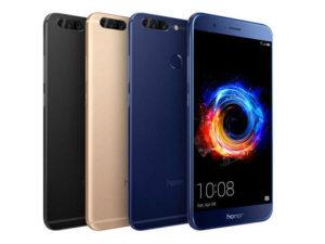 HUAWEI HONOR 8 Pro – 5.7 Zoll LTE QHD Phablet mit Android 9.0, Kirin 960 Octa Core 2.3GHz, 6GB RAM, 64GB Speicher, Dual 12MP+12MP & 8MP Kameras, 4.000mAh Akku