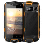 AGM A7 – 4.0 Zoll LTE WVGA Outdoor Smartphone mit Android 6.0, Snapdragon 210 Quad Core 1.1GHz, 2GB RAM, 16GB Speicher,  8MP+0.3MPKamera, 2.930mAh Akku