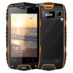 AGM A7 – 4.0 Zoll LTE WVGA Outdoor Smartphone mit Android 6.0, Snapdragon 210 Quad Core 1.1GHz, 2GB RAM, 16GB Speicher, 8MP & 0.3MPKamera, 2.930mAh Akku