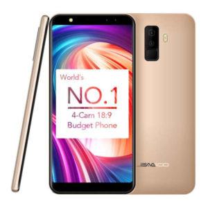 LEAGOO M9 – 5.5 Zoll 3G HD- Phablet mit Android 7.0, MTK6580A Quad Core 1.3GHz, 2GB RAM, 16GB Speicher, Dual 8MP+2MP & Dual 5MP+2MP Kameras, 2.850mAh Akku