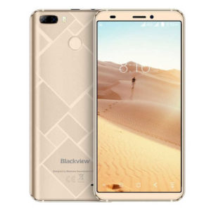 BLACKVIEW S6 – 5.7 Zoll LTE HD+ Phablet mit Android 7.0, MTK6737 Quad Core 1.3GHz, 2GB RAM, 16GB Speicher, Dual 8MP+0.3MP & 2MP Kameras, 4.180mAh Akku
