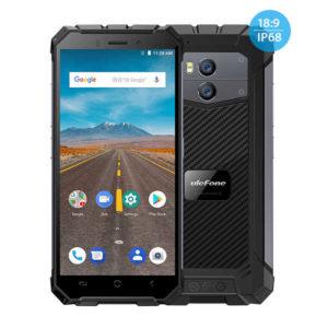 ULEFONE Armor X – 5.5 Zoll LTE HD+ Outdoor Phablet mit Android 8.1, MTK6739 Quad Core 1.5GHz, 2GB RAM, 16GB Speicher, Dual 8MP+5MP & 5MP Kameras, 5.500mAh Akku