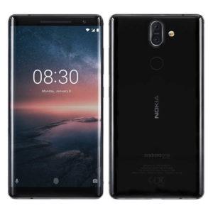 NOKIA 8 Sirocco – 5.5 Zoll LTE QHD Phablet mit Android 8.0, Snapdragon 835 Octa Core 2.45Ghz, 6GB RAM, 128GB Speicher, Dual 12MP+13MP & 5MP Kameras, 3.260mAh Akku