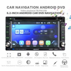 HEVXM HE-6609 – 6.2 Zoll 2 DIN Autoradio mit Android 6.0, INTEL Quad Core 1.2GHz, 1GB RAM, 16GB Speicher