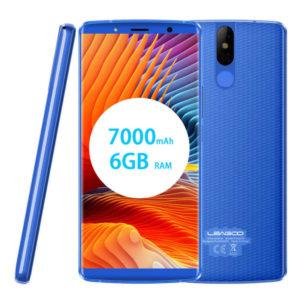 LEAGOO Power 5 – 5.99 Zoll LTE FHD+ Phablet mit Android 8.1, Helio P23 Octa Core 2.0GHz, 6GB RAM, 64GB Speicher, Dual 13MP+5MP & 13MP Kameras, 7.000mAh Akku
