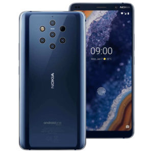 NOKIA 9 PureView – 5.99 Zoll LTE QHD+ Phablet mit Android 9.0, Snapdragon 845 Octa Core 2.8GHz, 6GB RAM, 128GB Speicher, 5x 12MP+TOF 3D & 21MP Kameras, 3.320mAh Akku