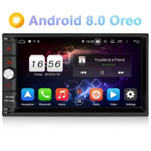 PUMPKIN ND0293B – 7.0 Zoll 2 DIN Autoradio mit Android 8.0, ARM Octa Core 1.5GHz, 2GB RAM, 32GB Speicher