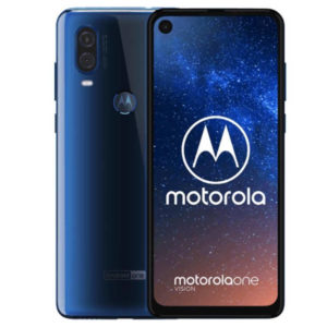 MOTOROLA One Vision – 6.3 Zoll LTE FHD+ Phablet mit Android 9.0, Exynos 9609 Octa Core 2.2Ghz, 4GB RAM, 128GB Speicher, Dual 48MP+5MP & 25MP Kameras, 3.500mAh Akku