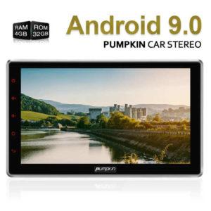 PUMPKIN AA0412B – 10.1 Zoll 2 DIN Autoradio mit Android 9.0, ARM Octa Core 1.6GHz, 4GB RAM, 32GB Speicher,