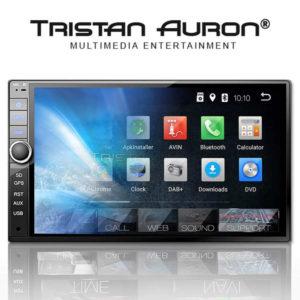 TRISTAN AURON BT2D7020A – 7.0 Zoll 2 DIN Autoradio mit Android 8.1, CORTEX A35 Quad Core 1.5GHz, 2GB RAM, 16GB Speicher