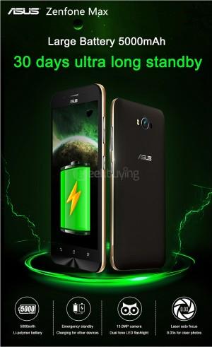 ASUS Zenfone Max – günstiges 5,5 Zoll HD Smartphone mit XXL Akku und 13MP Laser Autofocus Kamera