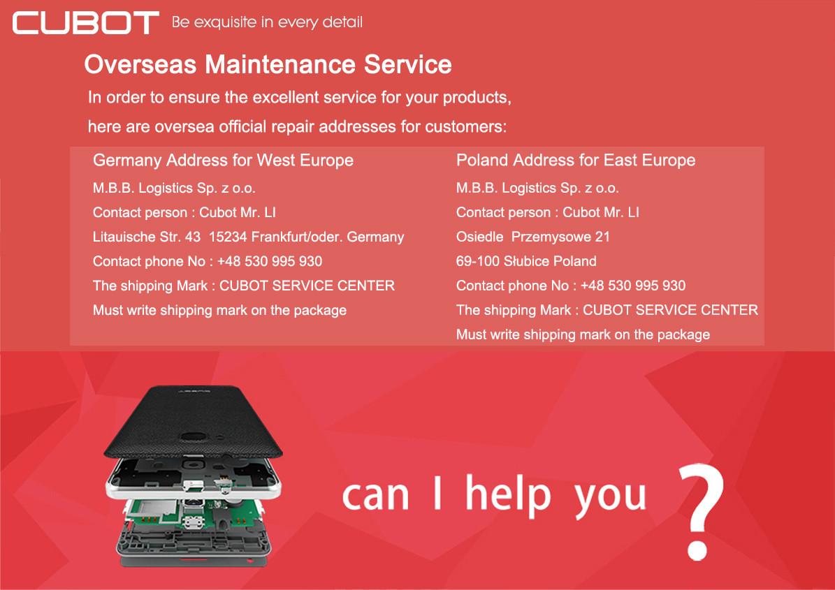 CUBOT , Garantie, Kundendienst Frankfurt