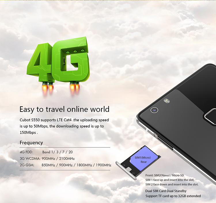 CUBOT S550 , China Handy LTE 800, B7 B20 LTE