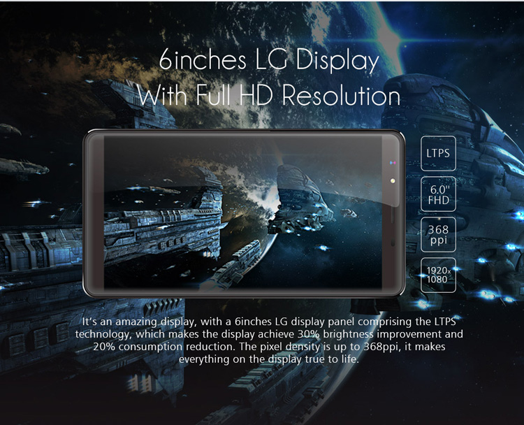 Leagoo Shark 1, 6 Zoll LG Display, Retina China Phablet, Fingerprint ID, günstig Handy ohne Vertrag