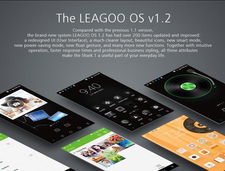 Leagoo Shark 1, Leagoo OS 1.2, OTA Update