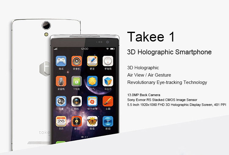 TAKEE 1, 3D Display, Full HD, Angebot Smartphone, sehr günstig China Smartphone, Smartphones China, China Phablet