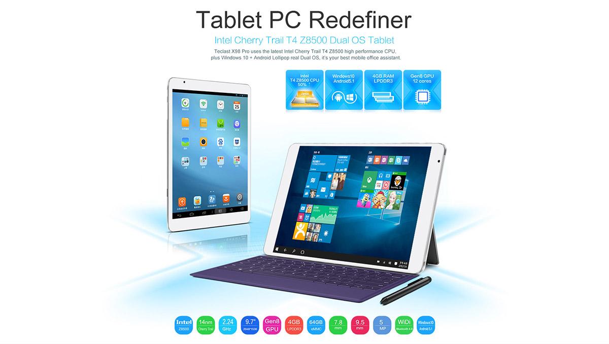 Teclast X98 Pro, Tablet PC Intel X5-Z8500, Test, Testbericht, Antutu Benchmark, Everbuying, Gearbest