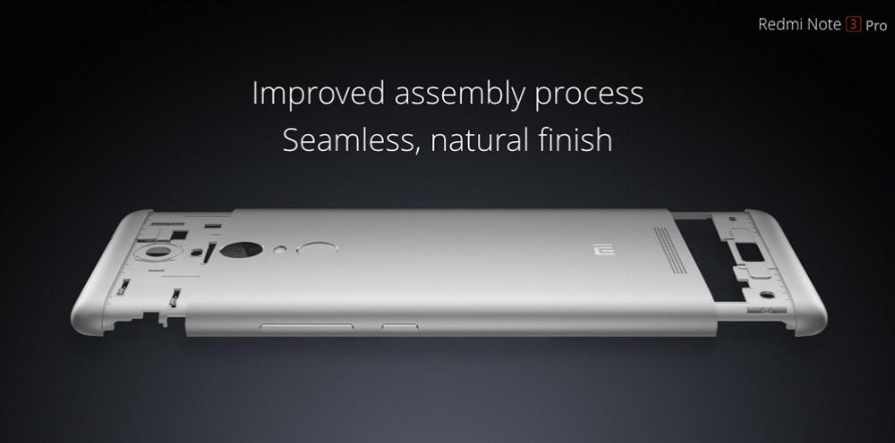 XIAOMI Redmi Note 3 Pro, Testbericht, Body Aluminium, Gewicht, Verarbeitung sehr gut