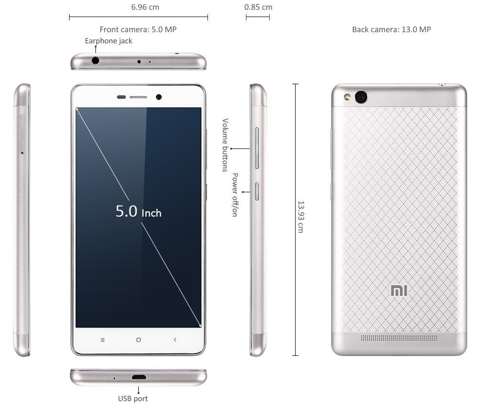 Xiaomi Redmi 3 5 Zoll, Neuheit, Xiaomi, günstig Smartphone kaufen, Antutu, Handy aus China, DHL Express Tage China Deutschland
