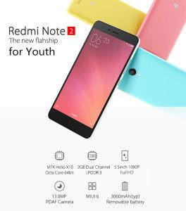 Xiaomi Redmi Note 2 – günstiges 5.5 Zoll Smartphone mit Helio X10 2.0GHz und Full HD Display
