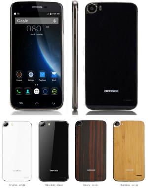 DOOGEE F3 PRO 5.0 Zoll FullHD 4G Smartphone mit Android 5.1, MTK6753 Octa Core 1.5GHz, 3GB RAM, 16GB Speicher, 13MP+8MP Kameras, 2.200mAh Akku
