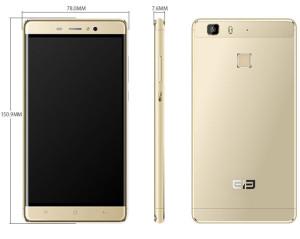 Elephone M1 5.5 Zoll LTE HD Phablet mit Android 5.1, MTK6735 64bit Quad Core 1.3GHz, 2GB RAM, 16GB Speicher, 13MP+2MP Kameras, 2.780mAh Akku
