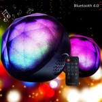 HiFi Farbenfroher LED Ball Bluetooth 4.0 Lautsprecher mit 3.5mm Line-In