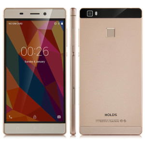 Holds K3 5.5 Zoll LTE HD Phablet mit Android 5.1, MTK6735 Quad Core 1.0GHz, 1GB RAM, 16GB Speicher, 8MP+2MP Kameras, 1.700mAh Akku, Touch ID
