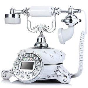 LD Maria Retro Keramik Telefon als Bluetooth Freisprecheinrichtung für alle Smartphones