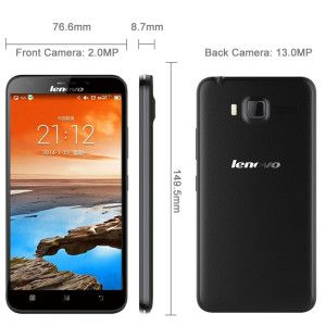 LENOVO A916 5.5 Zoll LTE HD Phablet mit Android 4.4, MTK6592 1.4 GHz Octa-core, 1GB RAM, 8GB Speicher, 13MP+2MP Kameras, 2.500mAh Akku