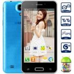 LKD F5 4.5 Zoll 3G WVGA Smartphone mit Android 4.2, MTK6572 Dual Core 1.0GHz, 512MB RAM, 4GB Speicher, 5MP+2MP Kameras, 1.450mAh Akku
