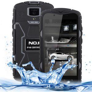 NO.1 X-Men X1 5.0 Zoll 3G HD Smartphone mit Android 4.4, MTK6582 Quad Core 1.3GHz, 1GB RAM, 8GB Speicher, 8MP+5MP Kameras, 3.300mAh Akku, wasserfest & staubdicht nach IP68