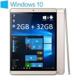 ONDA V919 Air – 9.7 Zoll QXGA Dual Boot Tablet PC mit Windows 10 & Android 4.4, Intel Atom Z3735F Quad Core 1.83GHz, 2GB RAM, 32-64GB Speicher, 2MP & 2MP Kameras, 7.000mAh Akku