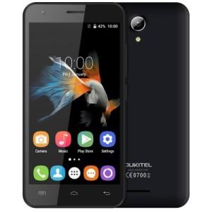 OUKITEL C2 4.5 Zoll 3G FWVGA Smartphone mit Android 5.1, MTK6580 Quad Core 1.3GHz, 1GB RAM, 8GB Speicher, 5MP+5MP Kameras, 1.800mAh Akku, OTA