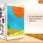 TECLAST X98 Air III 9.7 Zoll Tablet PC mit Android 5.0, Z3735F Quad-core 1.83GHz, 2GB RAM, 32GB Speicher, 5MP+2MP Kameras, 8.000mAh Akku, QXGA Retina Display, Bluetooth 4.0, HDMI